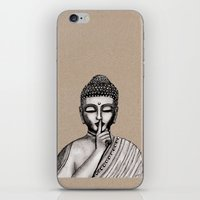 buddha iPhone & iPod Skins featuring BUDDHA by Vanya