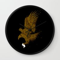 hunting Wall Clocks featuring Hunting by Flying Mouse 365