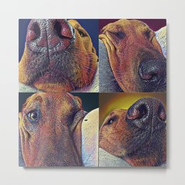 Squishy Face Metal Print