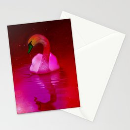 Surreal swan Stationery Cards