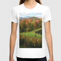 vermont T-shirts featuring Warren Vermont Foliage by Vermont Greetings
