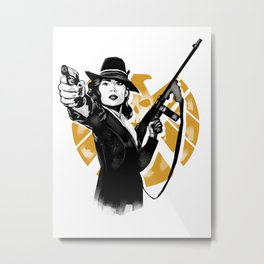 Agent Peggy Carter Metal Print
