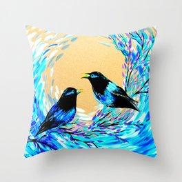 Bower Birds Throw Pillow