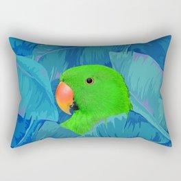 Parrot with banana leaves Rectangular Pillow