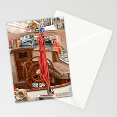 red roped boat Stationery Cards