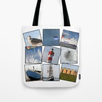 nautical Tote Bags featuring Nautical by Anne Seltmann