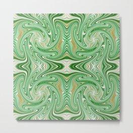 Abstract Green Mandala 1679 Metal Print