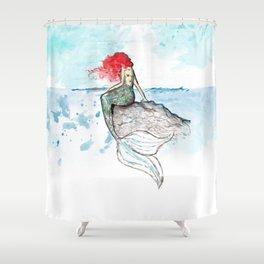 Mermaid - watercolor version Shower Curtain