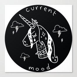 Moody Unicorn Canvas Print
