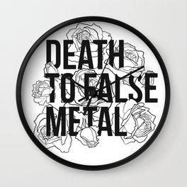 Death to False Metal / Roses Wall Clock