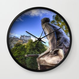 Scots American Memorial And Edinburgh Castle Wall Clock