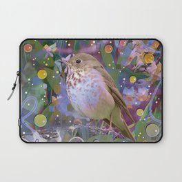 Magical Little Bird (Hermit Thrush) Laptop Sleeve