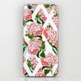 vintage flower wall iPhone Skin