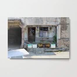 Abandonned Chinese House Metal Print