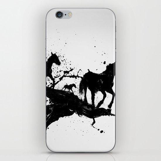Liquid horses iPhone Skin