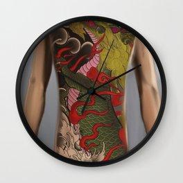 kirin bodysuit tattoo design Wall Clock