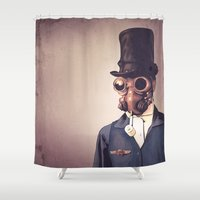 steampunk Shower Curtains featuring Steampunk by FalcaoLucas