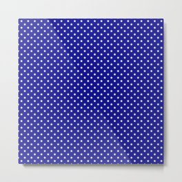 Blue and White Stars Metal Print