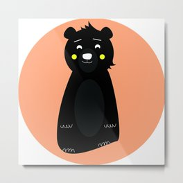 awkward bear Metal Print