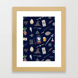 Harry Pattern Night Framed Art Print