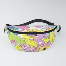 G1 my little pony group collage Fanny Pack