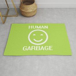 Human Garbage - Self Deprecating Happy Face Rug