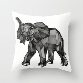 Geometric Giant #1: Elephant Throw Pillow