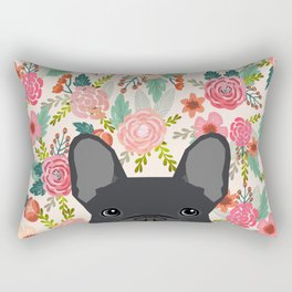 French Bulldog floral dog head cute pet gifts dog breed frenchies Rectangular Pillow