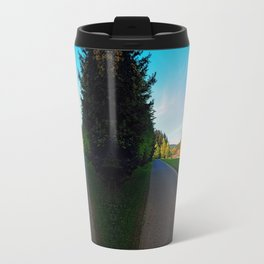 Country road on a spring afternoon   landscape photography Travel Mug