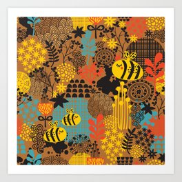 The bee. Art Print
