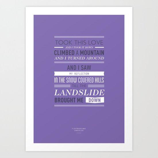 Lyrical Type - Landslide Art Print
