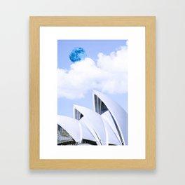 Sydney, Australia Travel Poster in infra red Framed Art Print