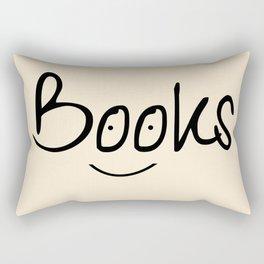 Books Smile Rectangular Pillow