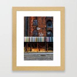 Love. Dumbo Brooklyn Framed Art Print