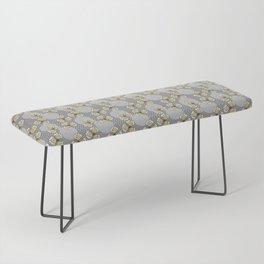 MAYA - Grey & Yellow Bench