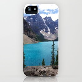 Moraine Lake Upper trail view iPhone Case