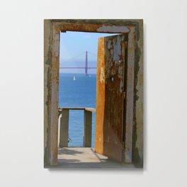 Alcatraz Doorway to the Golden Gate Metal Print
