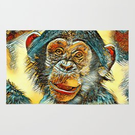AnimalArt_Chimpanzee_20170602_by_JAMColorsSpecial Rug