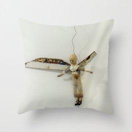 Flying Angel by Annalisa Ramondino Throw Pillow