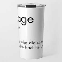 Savage Definition Travel Mug