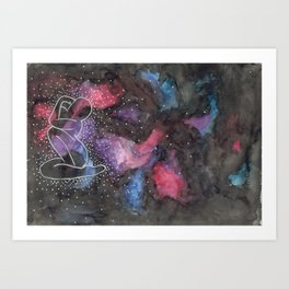 """Arctic Monkeys Inspired Illustration - """"She's made of outer space"""" Art Print"""