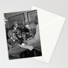 Tuskegee Airmen Planning Session - Italy - 1945 Stationery Cards