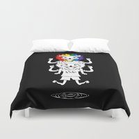bisexual Duvet Covers featuring Gay Pride Lions by mailboxdisco