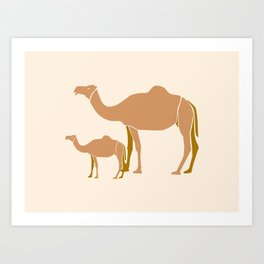 Camel Mother #draw #society6 #animal Art Print