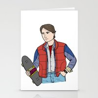 marty mcfly Stationery Cards featuring Marty McFly by MDP Design