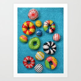Carnival Donuts Art Print
