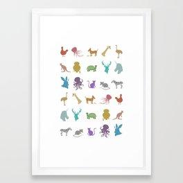 Glitter Animals A Framed Art Print