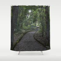italian Shower Curtains featuring Italian forest by F130284