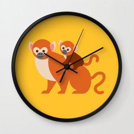 Monkey baby Wall Clock