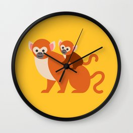 Monkey baby Wall Clock